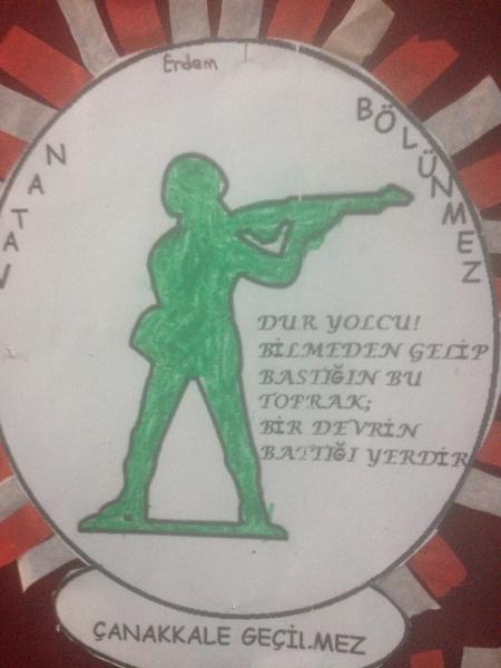 Ogrencilerimizden 18 Mart Canakkale Zaferi Konulu Boyama Calismalari